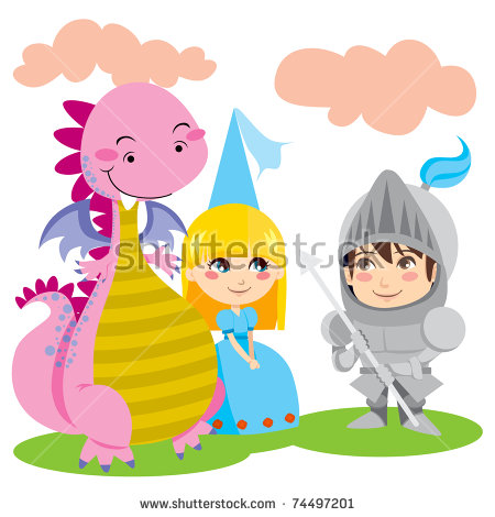 Knight Dragon Stock Images, Royalty.