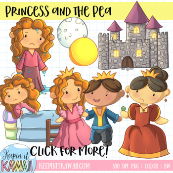 Princess and the Pea Clip Art Collection.