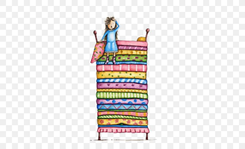 The Princess And The Pea Illustration, PNG, 500x500px.