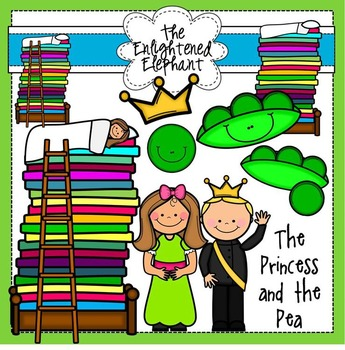 The Princess and the Pea Clipart.