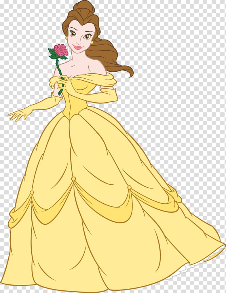 Belle Rapunzel Beast Disney Princess , belle transparent.