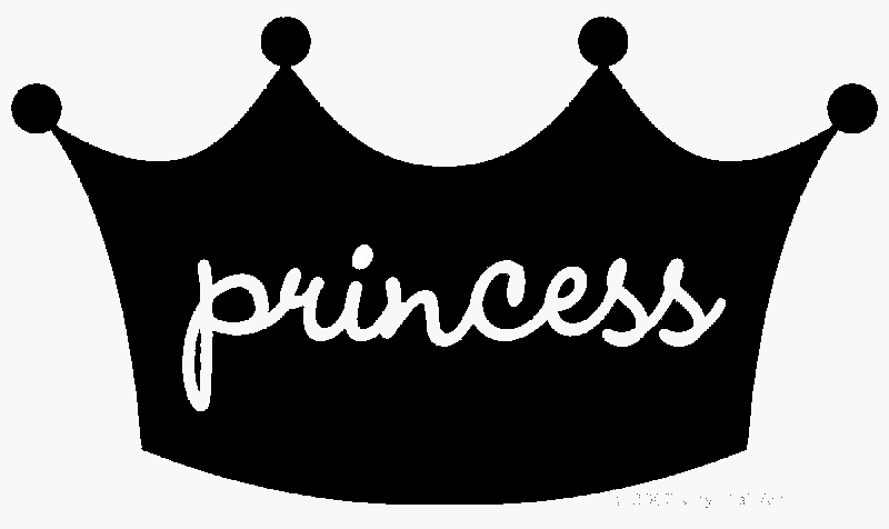 Crown black and white princess black and white clipart 3.