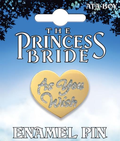 Details about The Princess Bride As You Wish Heart Logo Thick Metal Enamel  Pin NEW UNUSED.