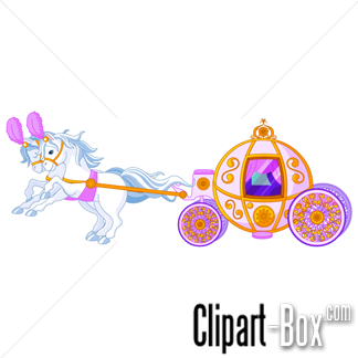 CLIPART PRINCESS CARRIAGE.