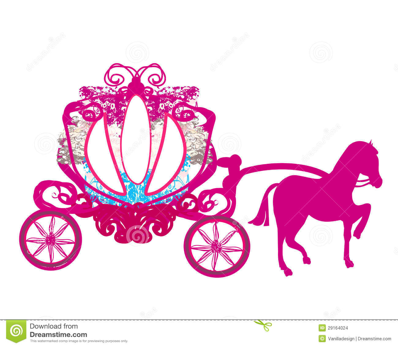 princess carriage clipart free - Clipground