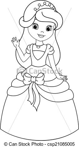 Princess Clipart Black And White.