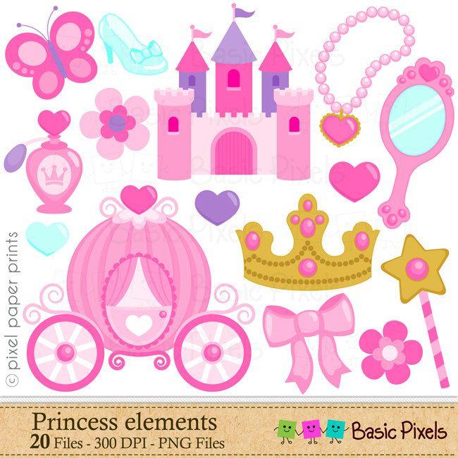 Princess Elements Clip Art.