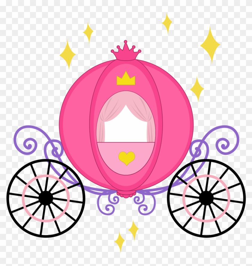 Baby Girl Clipart, Cinderella Carriage, Princess Carriage.
