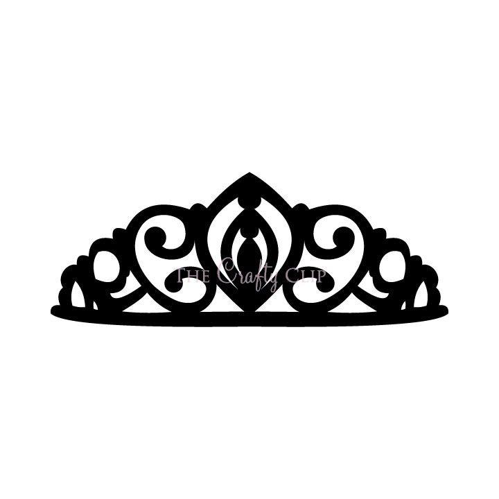 Crown Tiara House Clip Art Black And White.