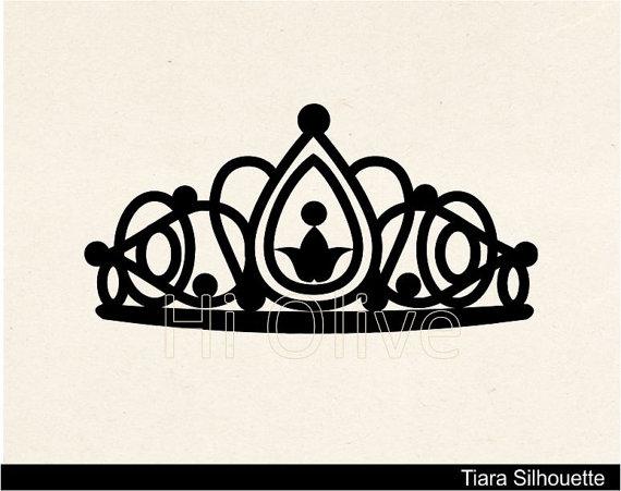 SVG Tiara clip artblack silhouette clip artqueen crown clip.