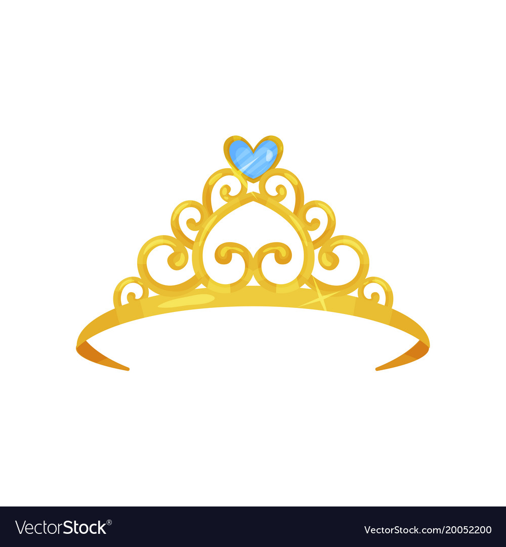 Colorful of golden princess crown.