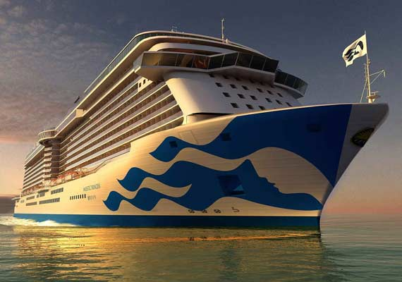 All Princess Cruise Ships Will Receive New Hull Logo.