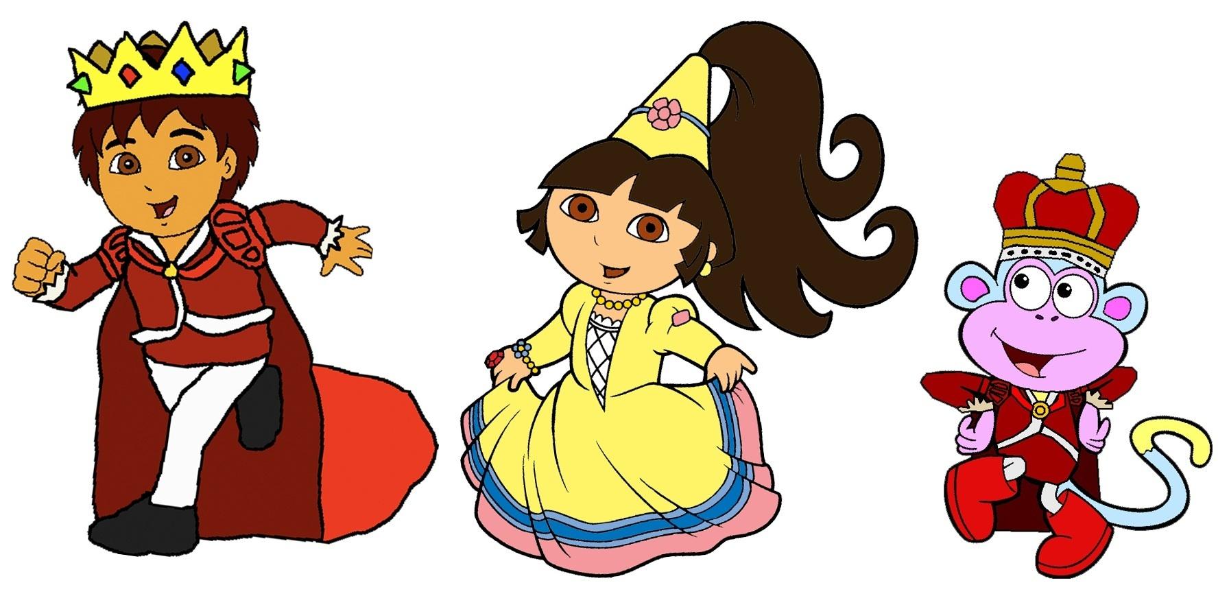 Prince Diego, Princess Dora and Prince Boots.