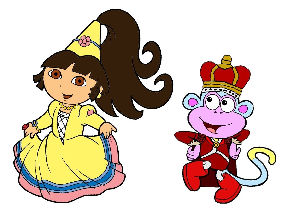 Princess Dora and Prince Boots.
