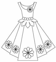 Black And White Clipart Dress.