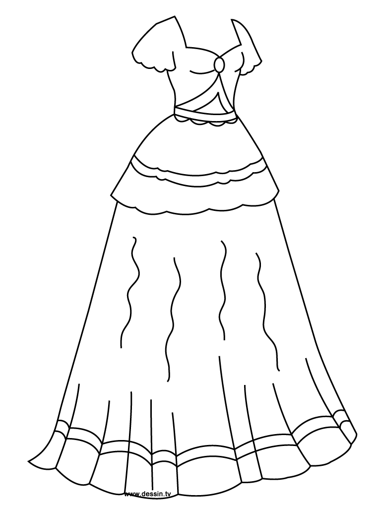 Princess Dress Clipart Black And White.