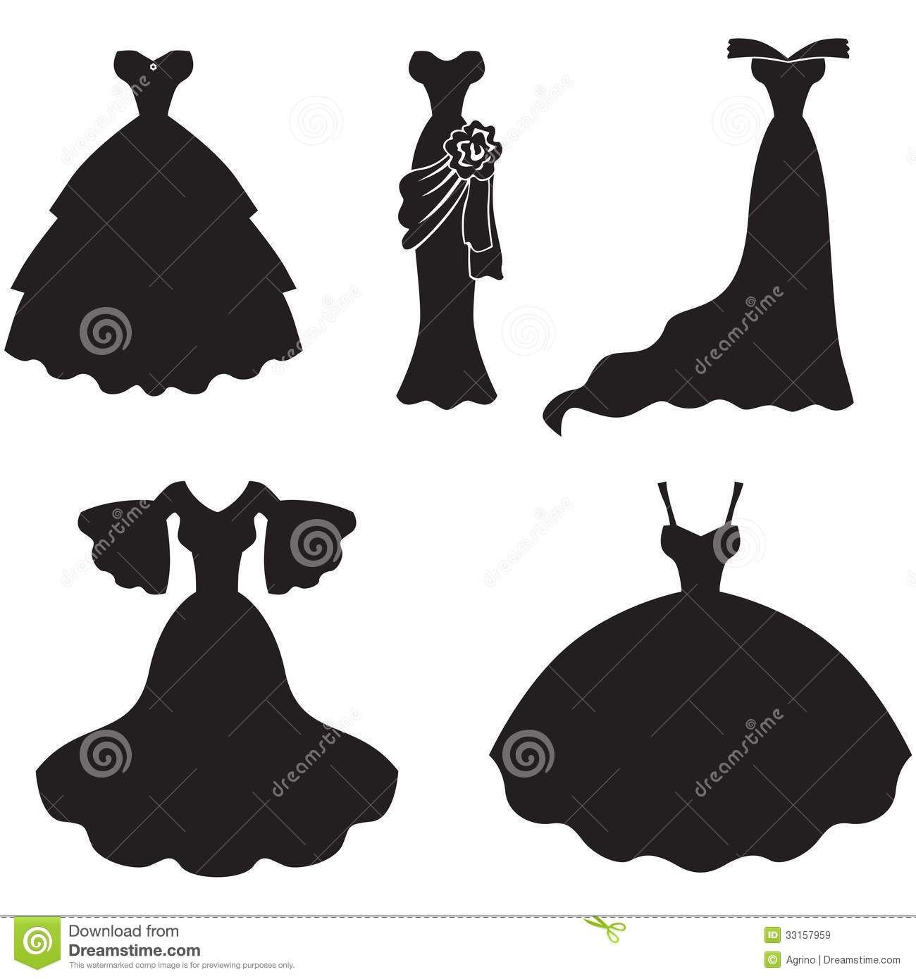Black Dress clipart princess dress.