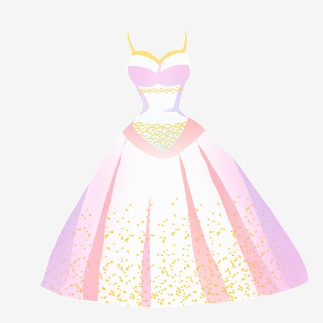 Princess Wedding Dress Illustration, Beautiful, Wedding.