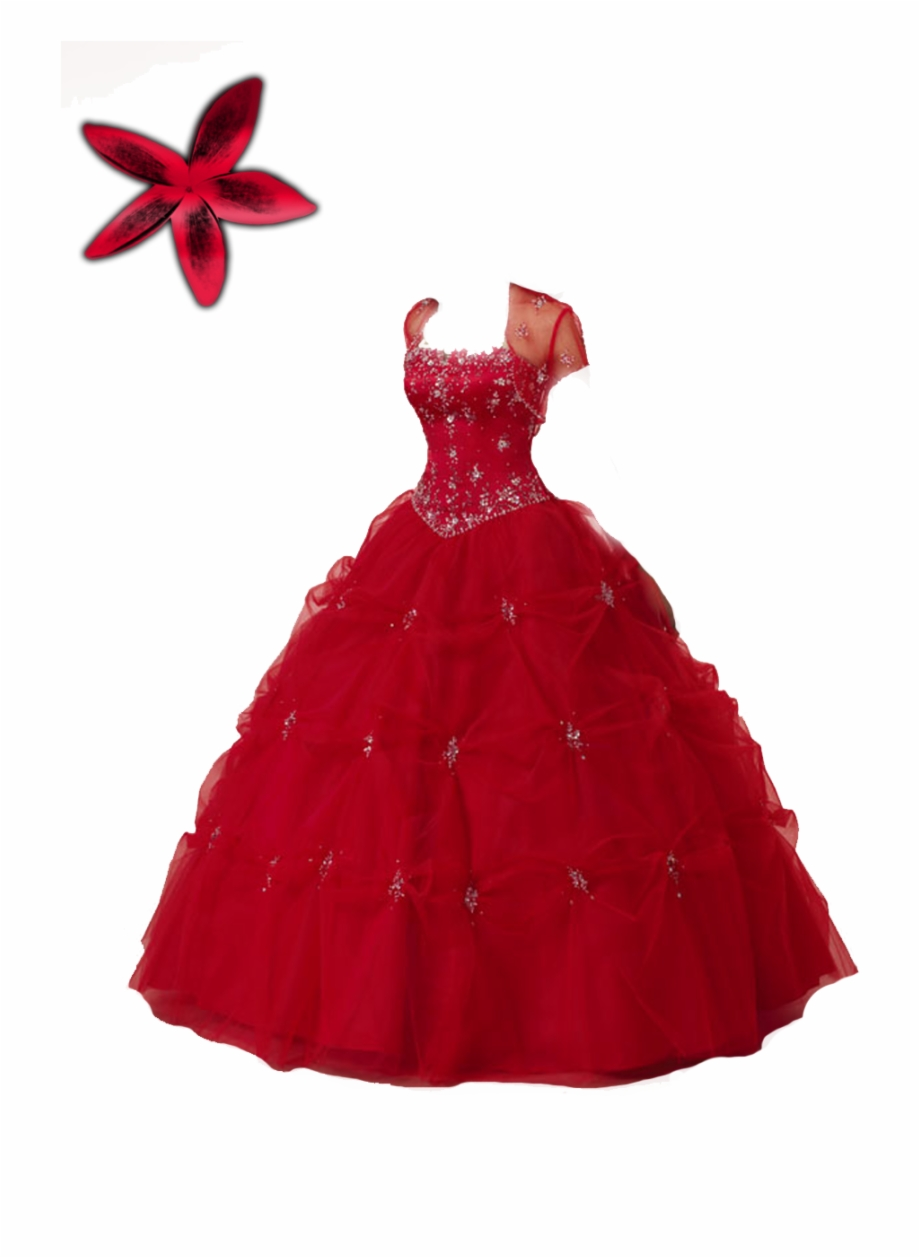 Red Gown Png.