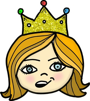 Princess Faces Clip Art.
