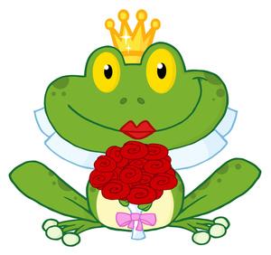 Princess Frog Clipart.