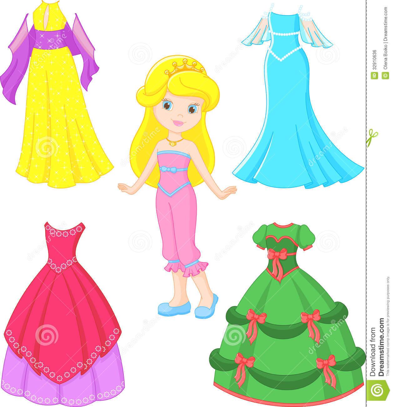Princess dress clipart 1 » Clipart Station.