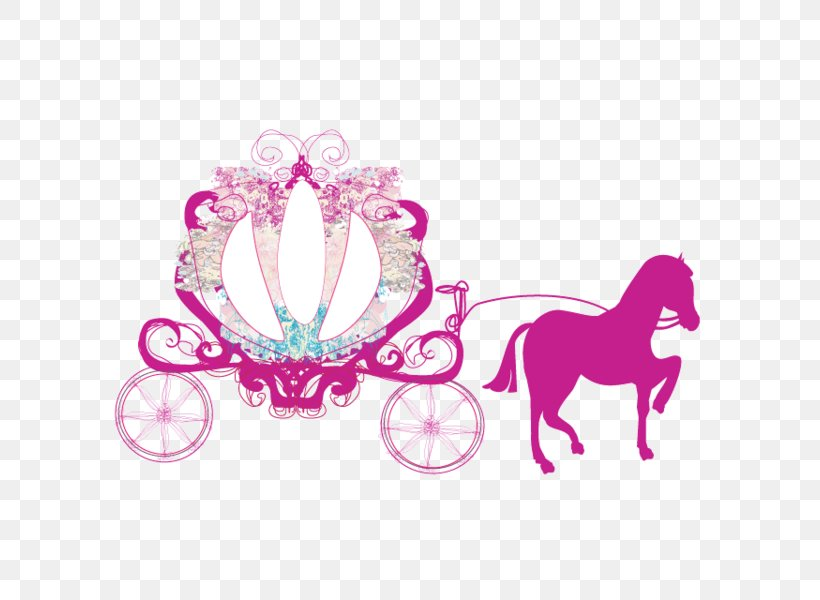 Carriage Cinderella Horse And Buggy Clip Art, PNG, 600x600px.