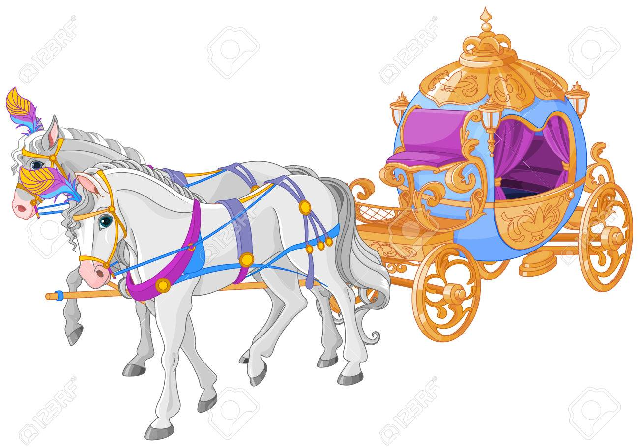 Cinderella Horse And Carriage Clipart.