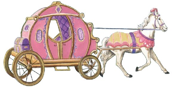 Princess horse and carriage clipart.