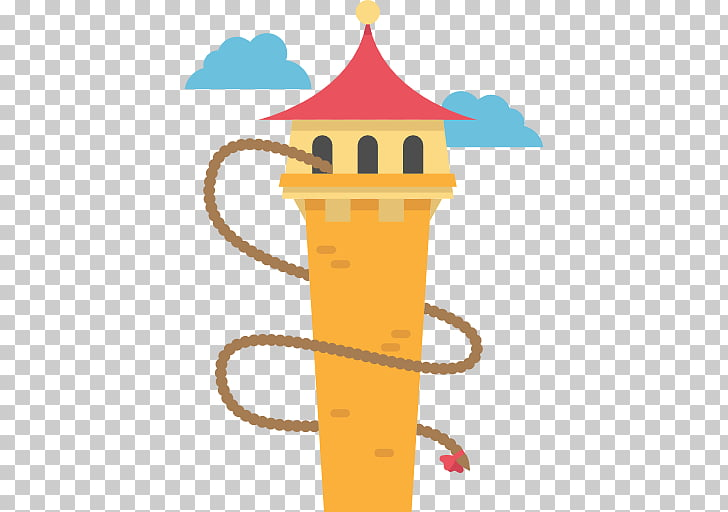 Rapunzel Scalable Graphics Icon, Cartoon Princess Tower PNG.