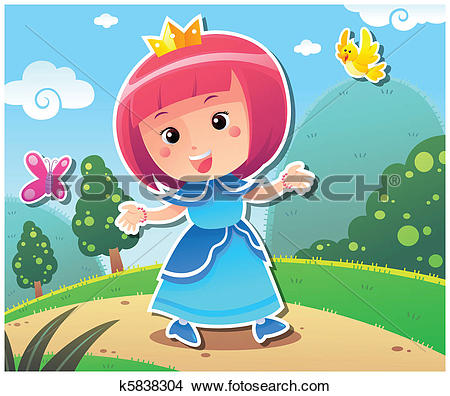 Clipart of Princess Lily k5838304.