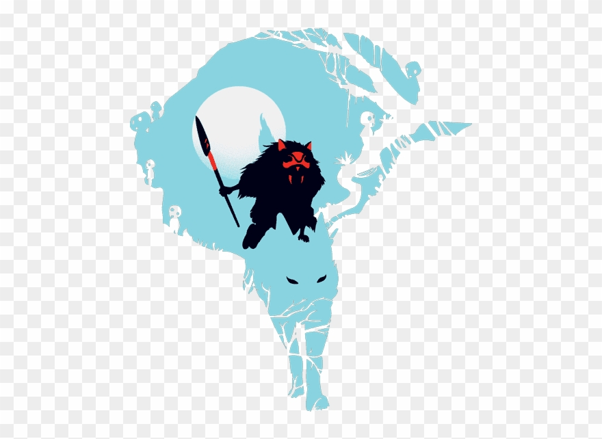 Princess Mononoke Studio Ghibli Shirt, Collage Art.