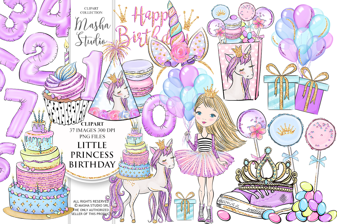 Princess Party clipart.
