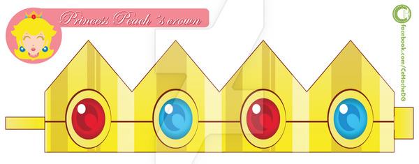 Princess Peach Crown Clipart.