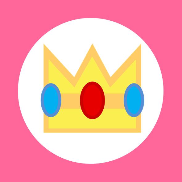 Princess Peach Logo.