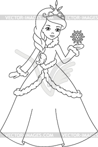 princess coloring page.