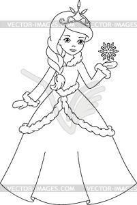 princess coloring page.