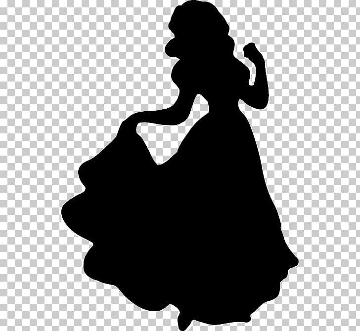 Snow White Cinderella Tiana Disney Princess Silhouette, snow.