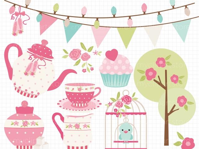 Princess Tea Party Clipart.