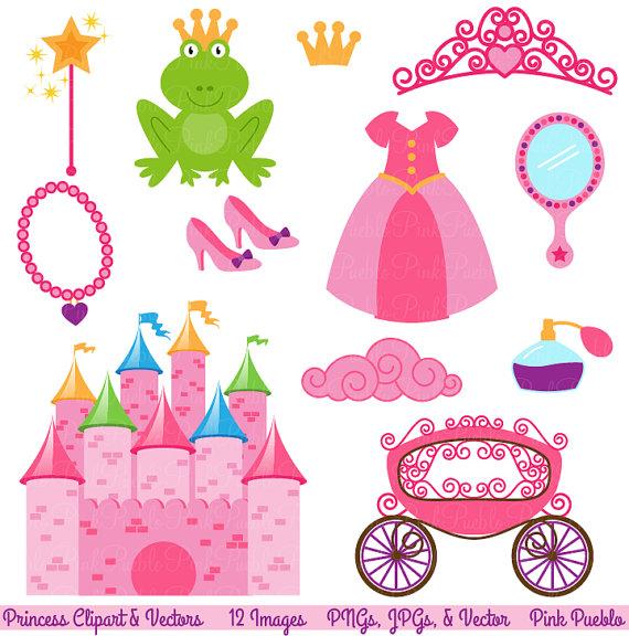 Princess Fairytale Clipart Clip Art, Storybook Clip Art.