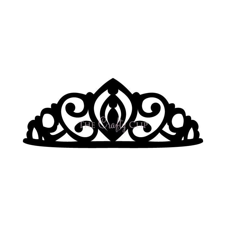 Crown Tiara House Clip Art Black And White.