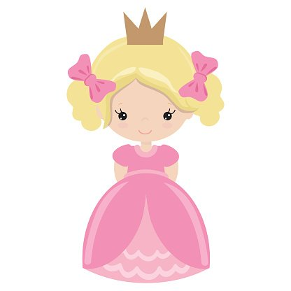 Cute princess vector illustration Clipart Image.