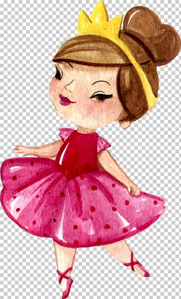 Euclidean Princess, little princess, princess PNG clipart.