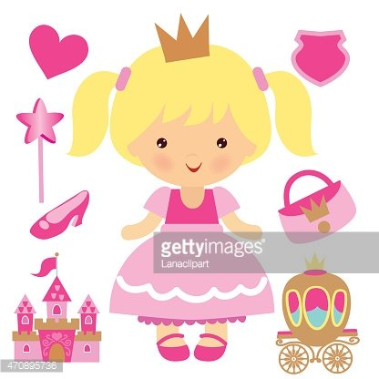 Princess vector illustration Clipart Image.