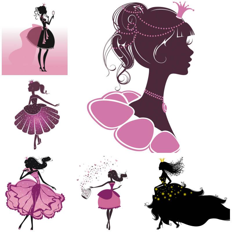 Cartoon princess vector.