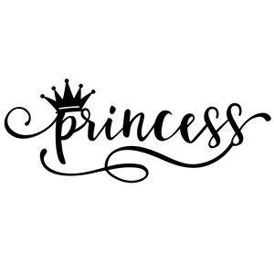 Silhouette Design Store: princess word.