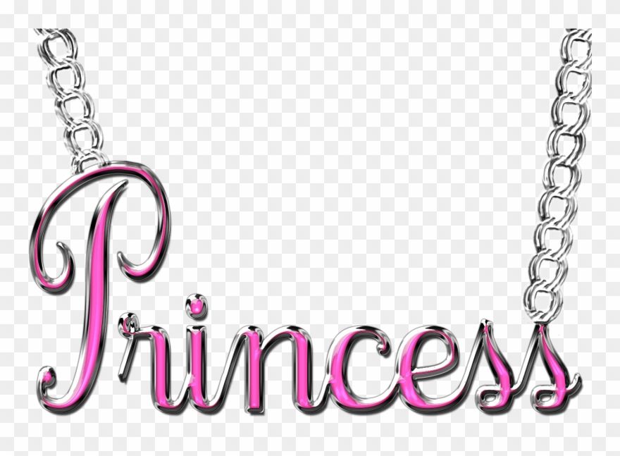 Graphic Free Stock Word Princess Necklace Png By.