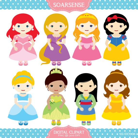 Disney princesses clipart.