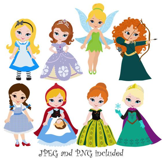 Princess 04 Digital Clipart / Princess Clip Art / Fairytale.
