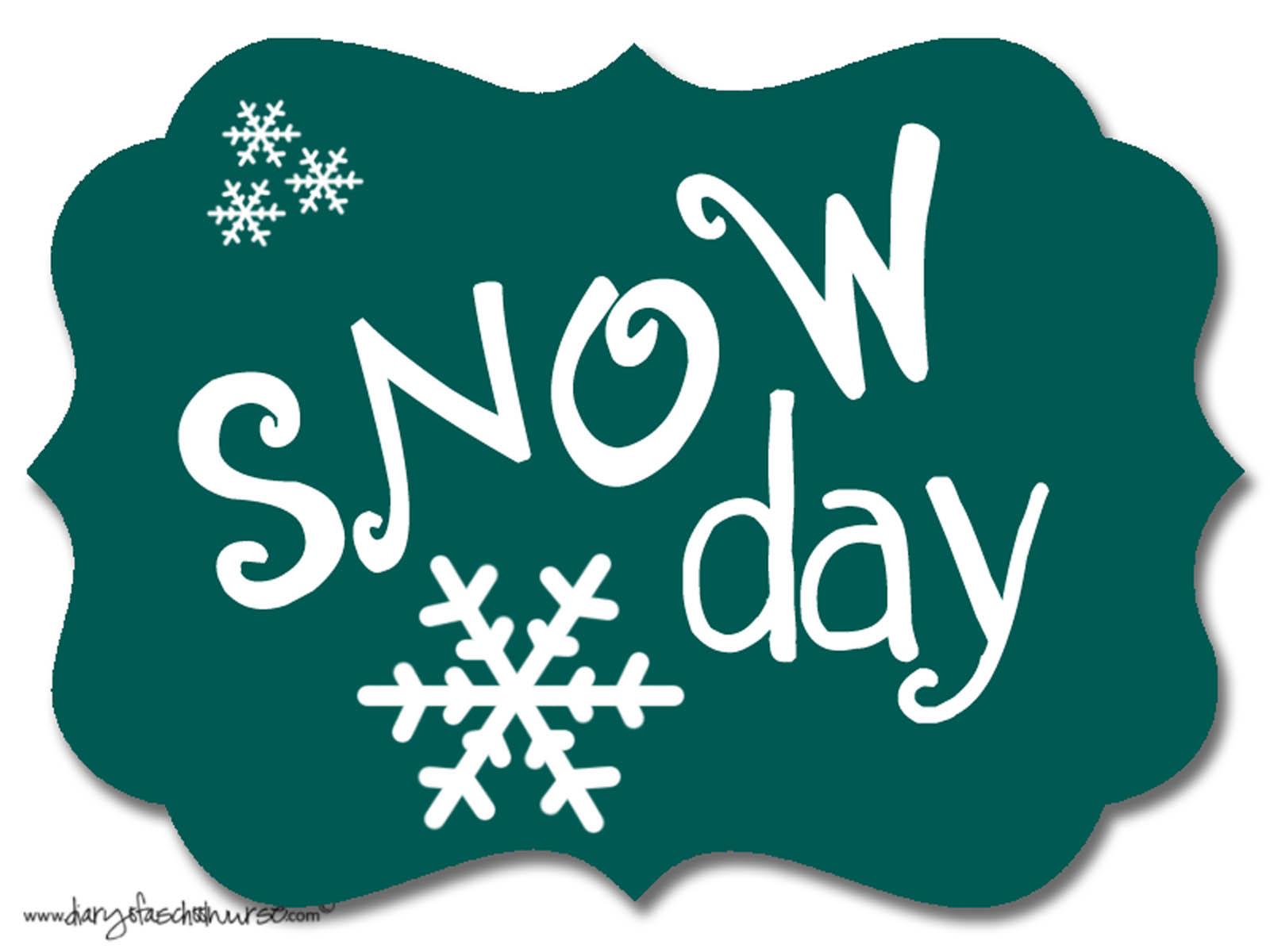 Snow days clip art.